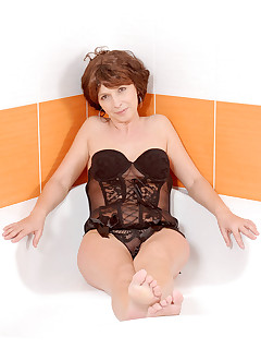 Anilos.com - Freshest mature women on the net featuring.. Classy granny drills her vibrator in and out of her juicy..