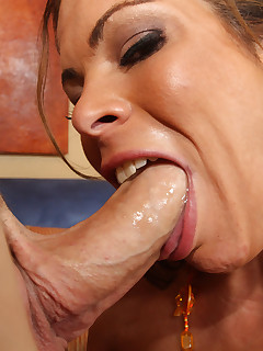 Hunter loves swallowing cock.