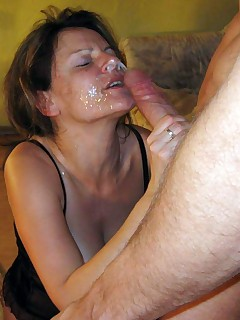 Dirty amateur wives giving head on camera