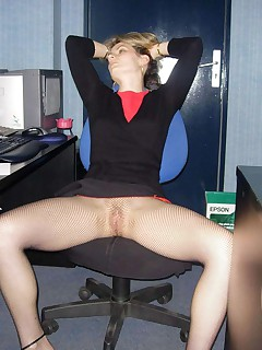 Business wife naked outdoor and in her office Business wife naked outdoor and in her office