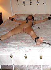 Clamped and tied tits from these bound wives