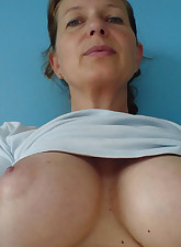 Check out these huge mature tits. Dont you just want to jam your face in them.