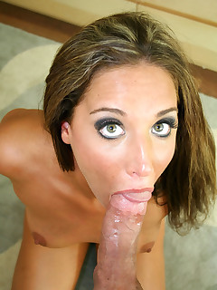 Beautiful brunette babe Jayma Ried gets wet facial