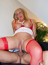 Blonde old whore shags and..