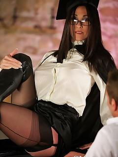 School Mistress Hybrid Teaching a Hard Lesson