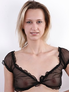 Todays CzechCasting is a ceremonial one, because the fair-haired Lucie from Bilina (North Bohemia) lost her casting..