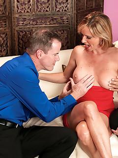Jodi, Her Husband And A Lot More. Blowjob, Cumshot, Group Sex