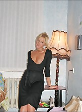 Hot blonde MILF gets naked..