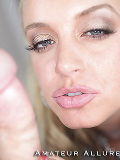 big breated student blows dick swallows semen