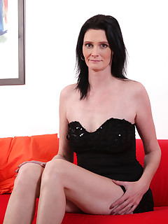 Laura Dark in black panties with toy
