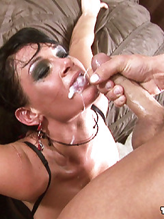 Busty Brunette Tory Lane Rides Massive Cock Before Receiving Facial In This Photo Set