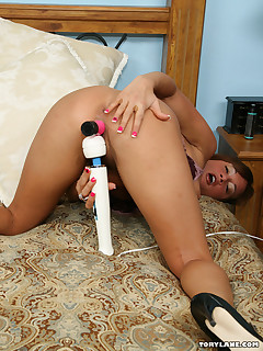 Tory Lane Toys Her Hot Cunt With Various Different Objects In This Photo Set