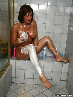 milf in shower
