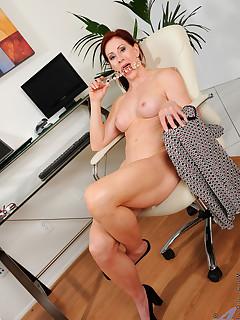 Anilos.com - Freshest mature women on the net featuring Anilos Catherine Desade redhead milf