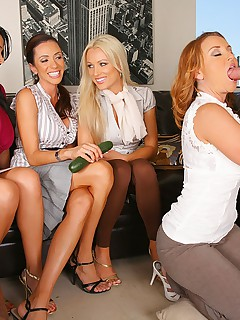4 hot milfs share a hard cock in these cock sucking lessons and 4 milf facial cumfaced pics