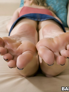 she has the cutest little feet that work wonders when applied to a cock. I love how aggressive and dirty she gets with the cock; it's enough to make..