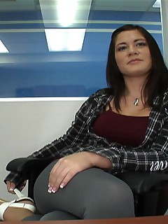 I got her to get comfortable during the interview as I found out that she is here because she needs quick cash as she..