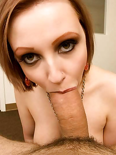Take a look of 16 pics, where this cutie, after sucking PP\'s dick and getting some dick in a diversity of angles, she..