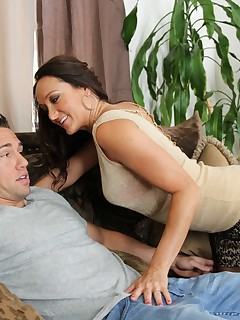 Busty brunette MILF loves to fuck her sons friends